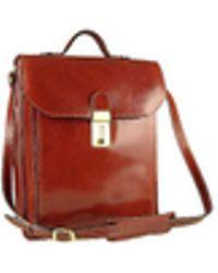 L.A.P.A. - Cognac Leather Vertical Briefcase - Lyst