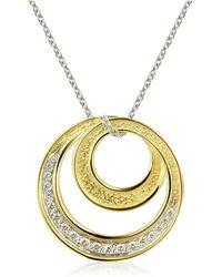 Torrini - Infinity 18k Yellow Gold Diamond Pendant Necklace - Lyst