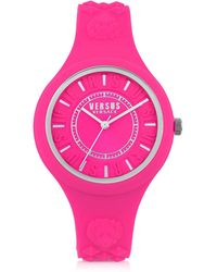 Versus - Fire Island Silicon And Silver Tone Stainless Steel Women's Watch - Lyst