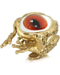 Bernard Delettrez - Bronze Frog Ring With Eye - Lyst