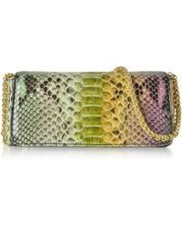 Ghibli Python Leather Mini Shoulder Bag - Green