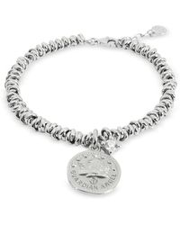 Nomination Sterling Silver Guardian Angel Charm Bracelet - Metallic