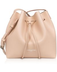 Lancaster Pur Saffiano Small Bucket Bag - Natural