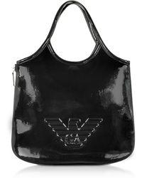 Emporio Armani Two-tone Hobo Bag - Black