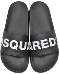 DSquared² - Logo Pool Slides - Lyst