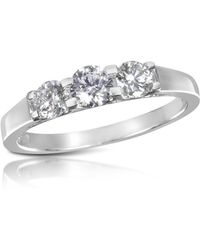 FORZIERI - 0.64 Ctw Diamond Three-stone 18k Gold Ring - Lyst