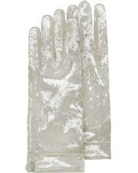 FORZIERI - Women's White Chenille Gloves - Lyst