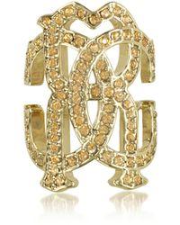 Roberto Cavalli Women's Gold Metal Ring - Metallic
