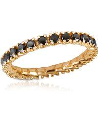 FORZIERI Anillo en Oro 18k con Diamantes Negros