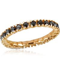 FORZIERI - Black Diamond 18k Yellow Gold Eternity Band - Lyst