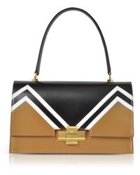 N°21 - Colour Block Leather Alice Satchel Bag - Lyst