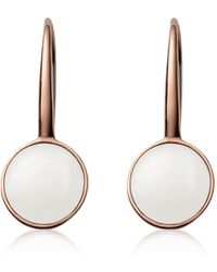 Skagen - Sea Glass Rose Gold-tone Drop Earrings - Lyst