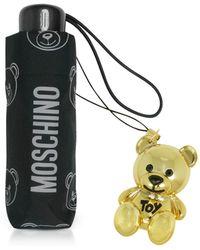 Moschino - Teddy Bear Supermini Umbrella W/golden Charm - Lyst