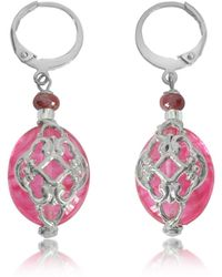 Antica Murrina - Florinda Ruby Murano Glass Earrings - Lyst