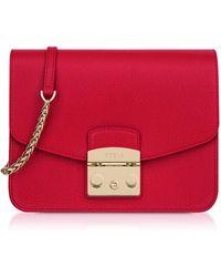 Furla - Women's Red Leather Shoulder Bag - Lyst
