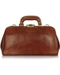 Chiarugi - Handmade Brown Genuine Leather Doctor Bag - Lyst