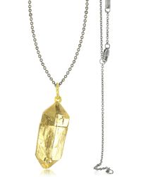 Bjorg - Magic Hour - Rock Box Golden Charm Necklace - Lyst