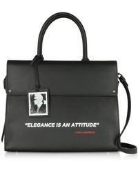 Karl Lagerfeld Karl Legend Ikon Top Handle - Black
