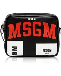 MSGM Signature Black Crossbody Bag