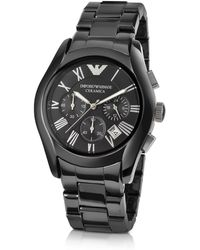 Emporio Armani Men's Ceramic Chrono Watch - Black