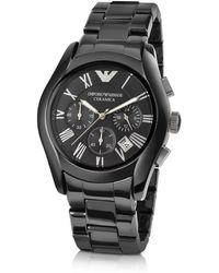 Emporio Armani - Men's Ceramic Chrono Watch - Lyst