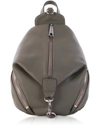 Rebecca Minkoff Leather Convertible Mini Julian Backpack - Brown