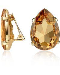 AZ Collection - Colgantes chapados Oro y Cristal - Lyst