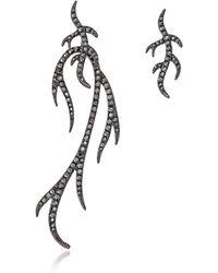 FEDERICA TOSI - Blackened Sterling Silver Twigs Earring - Lyst