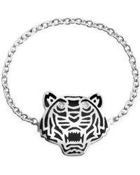 KENZO Mini Tiger Ring aus Sterlingsilber - Mettallic