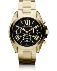 Michael Kors Bradshaw Goldtone Stainless Steel Women's Chronograph Watch - Metallic