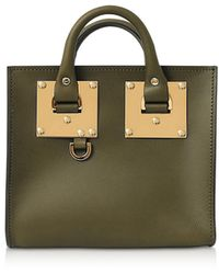 Sophie Hulme - Shiny Saddle Leather Box Albion Tote - Lyst