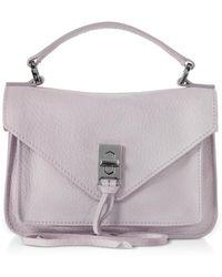 Rebecca Minkoff Nubuck Leather Mini Darren Messenger Bag - Purple