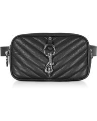 Rebecca Minkoff Pebbled Leather Camera Belt Bag - Black