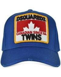 DSquared² - Twins Patch Cargo Gabardine Baseball Cap - Lyst