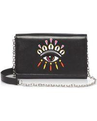 KENZO Paris Eye Wallet Clutch - Black