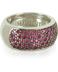 Azhar - Red Cubic Zirconia Silver Vermeil Ring - Lyst