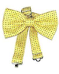 FORZIERI Yellow Polkadot Pre-tied Bowtie