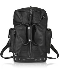 Jimmy Choo - Men's Black Leather Backpack - Lyst