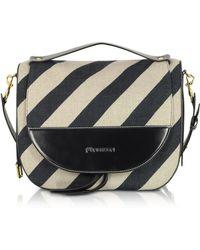 JW Anderson - White/black Linen Shoulder Bag - Lyst