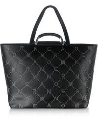 Ermanno Scervino Black Studded Leather Elvira Shopping Bag