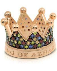 Azhar Re Silver And Zircon Crown Ring - Metallic