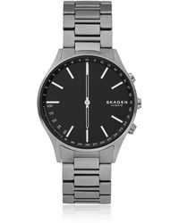 Skagen Holst Titanium And Dark Grey Link Smartwatch - Multicolour