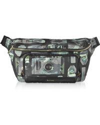 Paul Smith Paul's Camera Printed Canvas Men's Belt Bag - Black