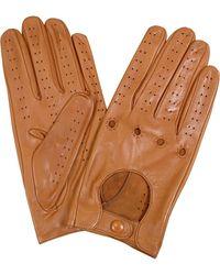 FORZIERI - Herrenhandschuhe aus italienischem Leder in naturfarben - Lyst