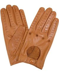 FORZIERI Men's Tan Italian Leather Driving Gloves - Brown