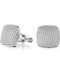FORZIERI - Evergreen - Milled Square Cufflinks - Lyst