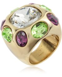 AZ Collection - Multicolor Crystal Ring - Lyst