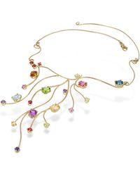 FORZIERI - 18k Yellow Gold Multi-gemstones Necklace - Lyst