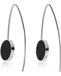 Skagen Ellen Onyx Hook Earrings - Metallic