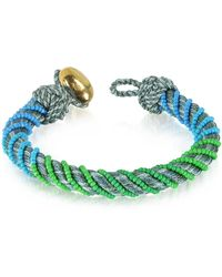 Aurelie Bidermann Maya Anthracite Bracelet W/18k Gold-plated Bead - Gray